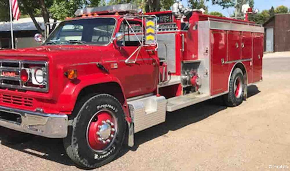 Used Fire Truck  1985 Gmcv Smeal 7000