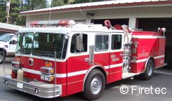 kme fire truck with 1500 gpm 1000 gallon tank