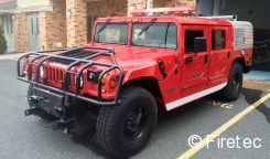hummer sold to macedonia vfd this 4x4 has pump roll via rear mount skid